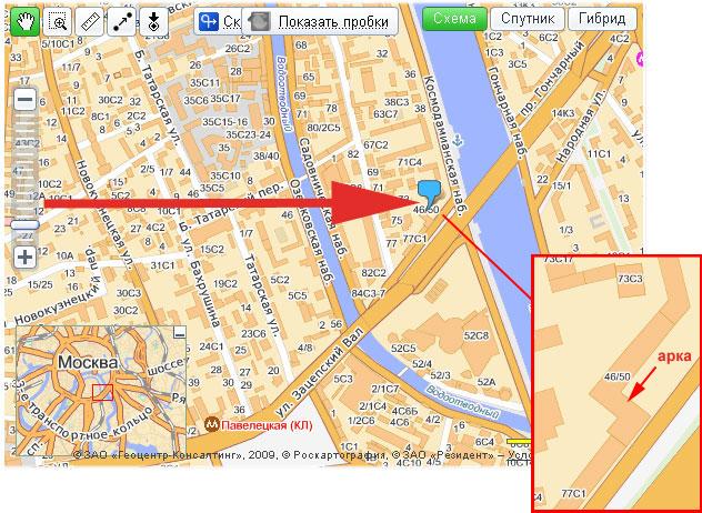 Смотреть на карте схему